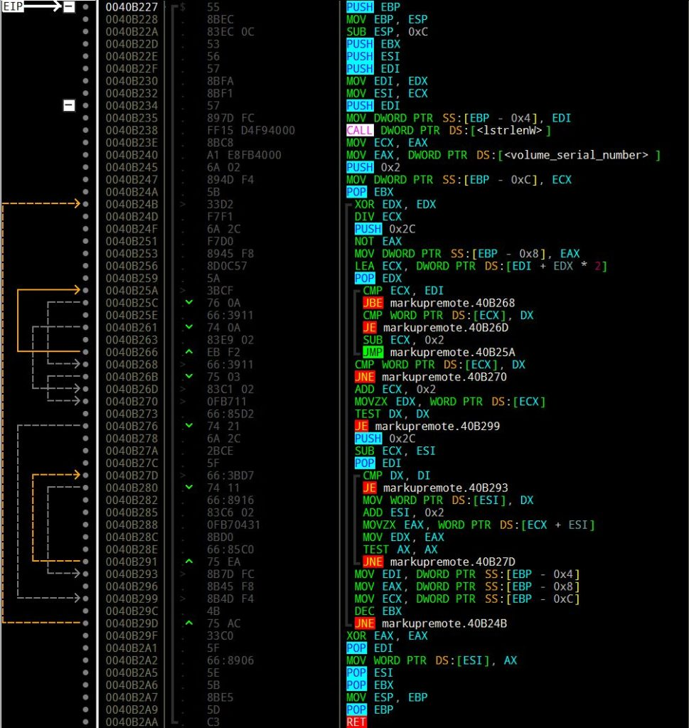 Emotet file name generator algorithm