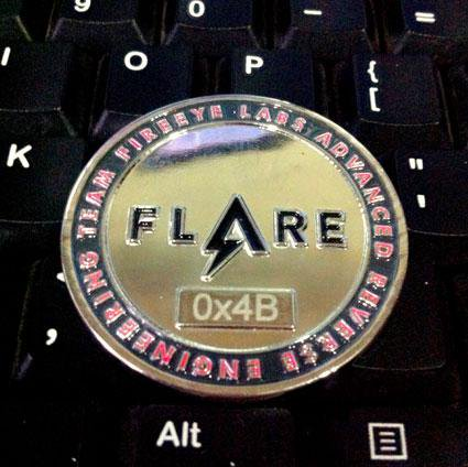 flare on challenge 2014 coin
