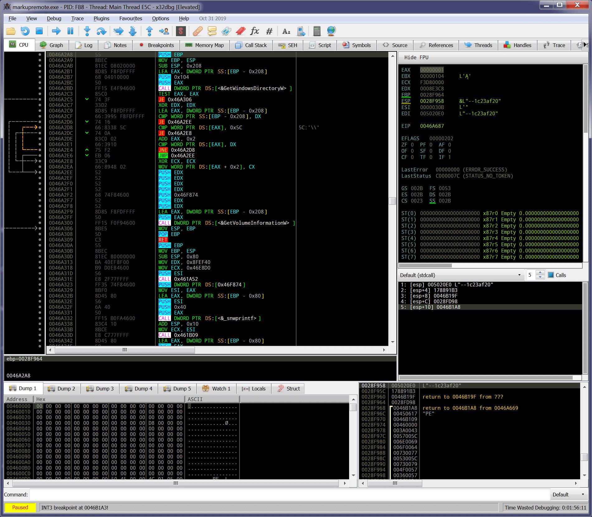 x64dbg color scheme - coloured black